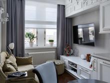 Квартира «Интерьер однокомнатной квартиры», гостиная . Фото № 28809, автор Полонский Глеб