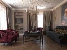 Квартира «По следам Возрождения», гостиная . Фото № 28815, автор Горчакова Ольга