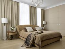 Квартира «Квартира в ЖК Алые паруса», спальня . Фото № 28842, автор Андрея Стубе архитектурное бюро