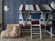 Квартира «Квартира в ЖК Алые паруса», детская . Фото № 28847, автор Андрея Стубе архитектурное бюро