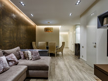Квартира «Интерьер четырехкомнатной квартиры», гостиная . Фото № 28850, автор Полонский Глеб