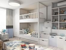 Квартира «СЕРО-БЕЖЕВОЕ НАСТРОЕНИЕ», детская . Фото № 28900, автор Алёны Чекалиной Дизайн студия