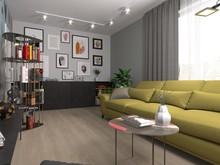 Квартира «Квартира в стиле контемпорари», гостиная . Фото № 28916, автор Семенец Алла
