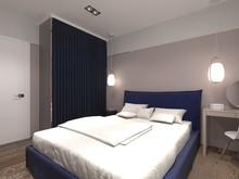 Квартира «Квартира в стиле контемпорари», спальня . Фото № 28917, автор Семенец Алла