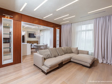 Квартира «ЖК Панорама», гостиная . Фото № 29029, автор Герасимов Павел