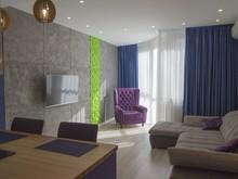 Квартира «Бетон и нежность.», гостиная . Фото № 29081, автор Сергиенко Алина
