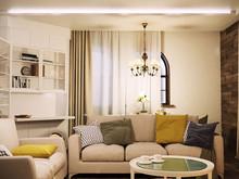 Квартира «Гостиная с камином», гостиная . Фото № 29085, автор Дуквен Ольга