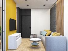 Квартира «Арт-лофт», гостиная . Фото № 29086, автор Дуквен Ольга