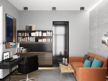 Квартира «BREATHE», кабинет . Фото № 29113, автор Studio57 Interior Design