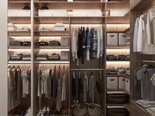 Квартира «BREATHE», гардеробная . Фото № 29114, автор Studio57 Interior Design