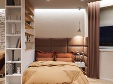 Квартира «Минск, улица Кольцова   », спальня . Фото № 29201, автор КВАДРАТ студия дизайна