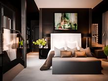 Квартира «English Quarters», спальня . Фото № 29210, автор INRE