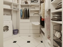 Квартира «Романтическое спокойствие», гардеробная . Фото № 29241, автор Лаврова Галина
