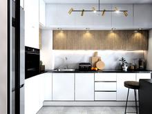 Квартира «Однушка 37м2», кухня . Фото № 29255, автор Громова Наталья