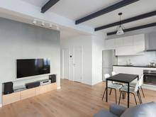 Квартира «Белая квартира», гостиная . Фото № 29273, автор Кисель Марина