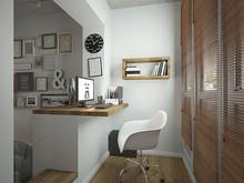 Квартира «Лофт для девушки студентки», кабинет . Фото № 29286, автор Лубяная Татьяна