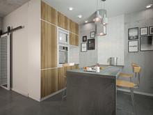 Квартира «Лофт для девушки студентки», кухня . Фото № 29284, автор Лубяная Татьяна