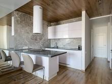 Квартира «50 оттенков серого в центре Сибири», кухня . Фото № 29298, автор Симагина Ольга