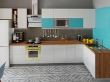 Квартира «Уютная квартира-студия для молодой пары.», кухня . Фото № 29309, автор Сопова Екатерина