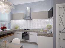 Квартира «Трёхкомнатная квартира на Московском пр», кухня . Фото № 29316, автор Корпан Ксения
