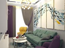 Квартира «Трёхкомнатная квартира на Московском пр», гостиная . Фото № 29313, автор Корпан Ксения