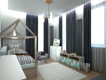 Квартира «Двухкомнатная квартира на Ленинском пр, С-Пб», детская . Фото № 29328, автор Корпан Ксения