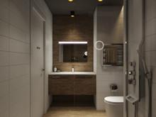 Квартира «Loft в темных тонах», ванная . Фото № 29345, автор Wide Design Group
