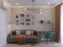 Квартира «Квартира 135м2 на ул Рогожский Вал в Москве», кабинет . Фото № 29348, автор Декотренд