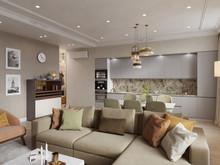 Квартира «Квартира 135м2 на ул Рогожский Вал в Москве», гостиная . Фото № 29346, автор Декотренд