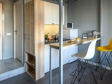 Квартира «max минимально», кухня . Фото № 29381, автор Новопольцева Анна