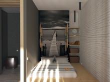 Квартира «Студия 36м.кв.», спальня . Фото № 29388, автор Новопольцева Анна