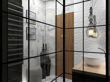 Квартира «Студия 36м.кв.», ванная . Фото № 29389, автор Новопольцева Анна