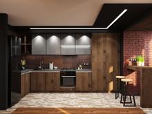 Квартира «Кухня-гостиная», кухня . Фото № 29390, автор Трошина Анна