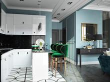 Квартира «мини ар-деко», кухня . Фото № 29395, автор Новопольцева Анна