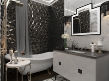 Квартира «мини ар-деко», ванная . Фото № 29394, автор Новопольцева Анна