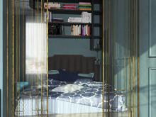 Квартира «мини ар-деко», спальня . Фото № 29396, автор Новопольцева Анна
