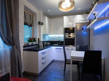 Квартира «Красный на сером холсте.», кухня . Фото № 29398, автор Арсюткина Светлана
