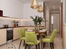 Квартира «Гармония роскоши и природы в ЖК Татьянин Парк», кухня . Фото № 29411, автор Ивлиева Евгения