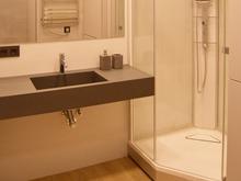 Квартира «Маленькая квартира в легком лофте», ванная . Фото № 29418, автор GENESIS Студия дизайна интерьера