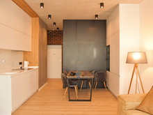Маленькая квартира в легком лофте, фото № 8041, GENESIS Студия дизайна интерьера
