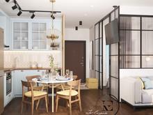 Квартира «Уютный Скандинавский стиль в ЖК Ясный», кухня . Фото № 29422, автор Ивлиева Евгения