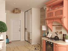 Квартира «Восток и Средиземноморье в ЖК Мишино», прихожая . Фото № 29431, автор Ивлиева Евгения