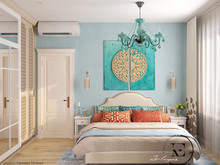 Квартира «Восток и Средиземноморье в ЖК Мишино», спальня . Фото № 29432, автор Ивлиева Евгения