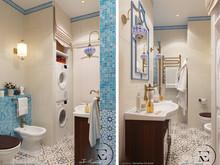 Квартира «Восток и Средиземноморье в ЖК Мишино», ванная . Фото № 29425, автор Ивлиева Евгения