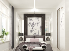 Квартира «Басманная_LIFE», спальня . Фото № 29440, автор Валкина Анна