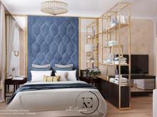 Квартира «Ар-деко на Славянском бульваре», спальня . Фото № 29453, автор Ивлиева Евгения