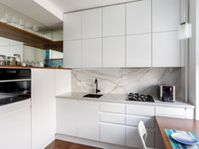 Квартира «Квартира на Фрунзенской набережной», кухня . Фото № 29456, автор Кисель Марина