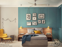 Квартира «Яркий Скандинавский дизайн в Лыткарино», спальня . Фото № 29468, автор Ивлиева Евгения