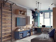 Квартира «Яркий Скандинавский дизайн в Лыткарино», детская . Фото № 29464, автор Ивлиева Евгения