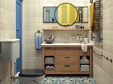 Квартира «Яркий Скандинавский дизайн в Лыткарино», ванная . Фото № 29465, автор Ивлиева Евгения